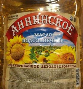 Масло растительное 5 литров