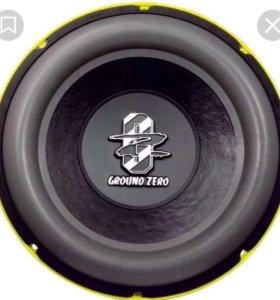 Сабвуфер Ground Zero gzrw 300X Новый!
