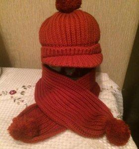 Шапка с шарфом 🧣