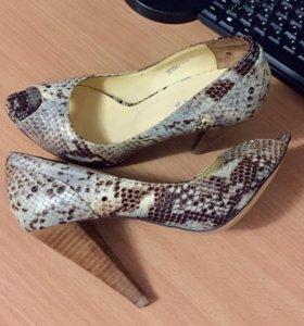 Туфли с открытым пальцем натуральная кожа