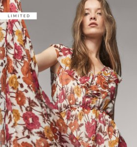 Новое шёлковое платье Massimo Dutti, р-р 38