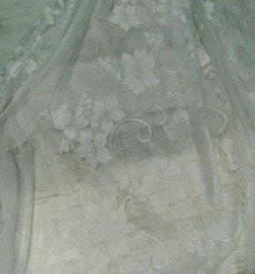 Тюль белый красивый