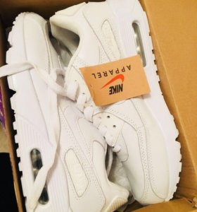 Nike air max кроссовки кожаные