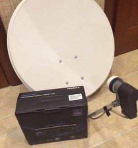 Спутниковая тарелка и ресивер