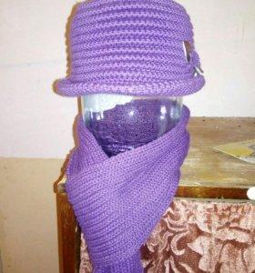 Шляпа с шарфом