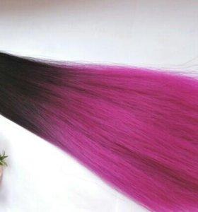 Термо волосы омбре на заколках 55-60 см.