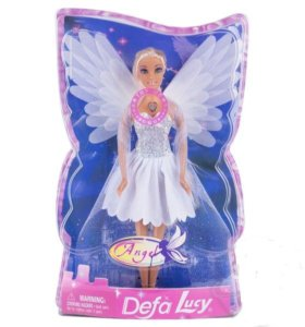 Кукла Сказочная Фея. Белоснежные крылья светятся