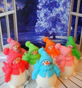 снеговик#мыло