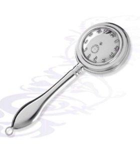 """Серебряная погремушка""""Часы"""""""