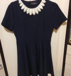 Платье со сменными воротничками👌🏻👗