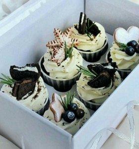 Капкейки, пирожные, кейк попсы