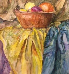 Картина акварель А3 натюрморт