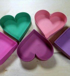 деревянные ящички сердечки