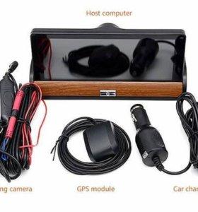 Автопланшет видеорегистратор с камерой заднего вид