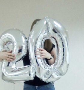 Надувные шары цифры 20
