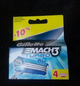 Кассеты Gillette mach 3 mach 3turbo