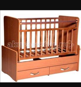 Кроватка детская  от 0 до 5 лет с матрасом