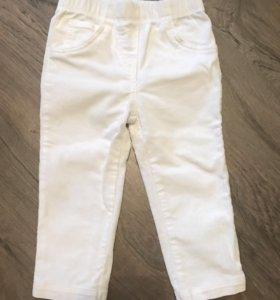 Белые штанишки брюки carters 24 мес
