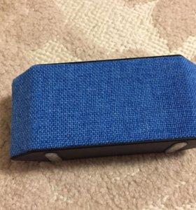 Колонка портативная К70 синего цвета