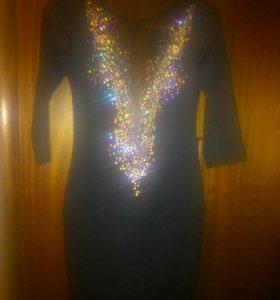Платье с камушками.