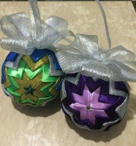 Новогодние шарики ручной работы.