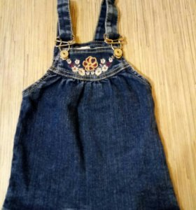 Платье джинсовое (сарафан)