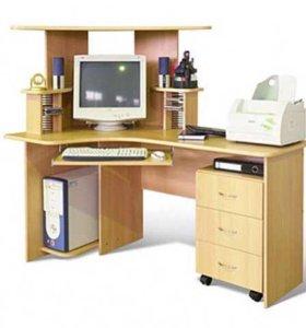 Большой угловой компьютерный стол Диана Руссо