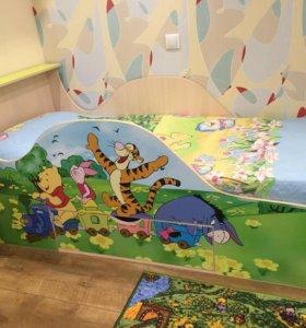Детская кровать с матрасом 80*180