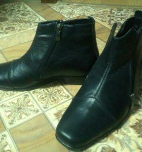 НОВЫЕ! Кожаные мужские зимние ботинки р-р 38