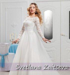Свадебное платье/шубка/фата