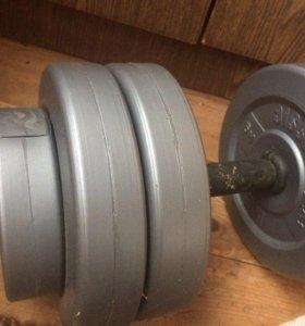 2 гантели по 10 кг