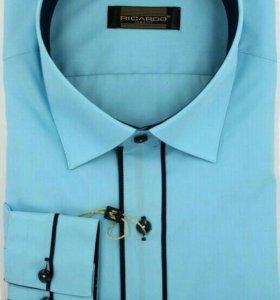 Дизайнерская приталенная рубашка новая