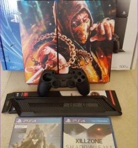 Sony Playstation 4 + 10 Игр + Аксессуары