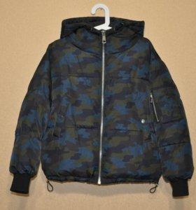 Стильная зимняя куртка zara, оверcайз XS (42)