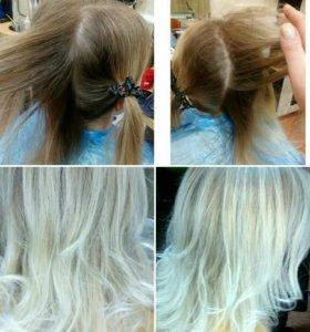Окрашивание волос,уход,стрижки