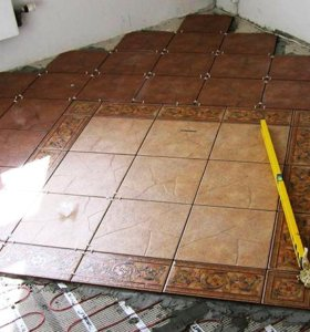укладка настенной и напольной плитки