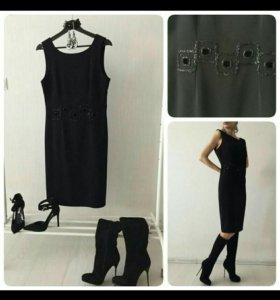 Платье чёрное, р46