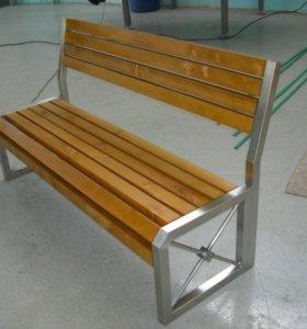 Мебель в стиле лофт, стол, скамья