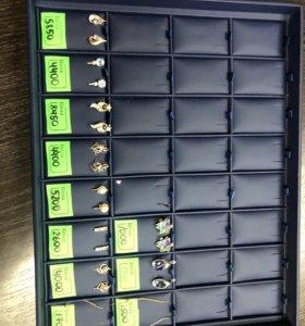 Золотые серьги 1750 р за грамм