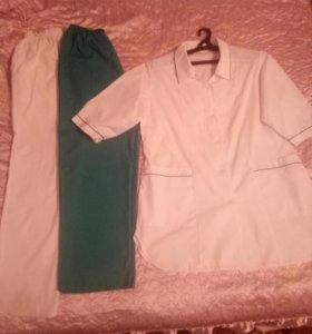 Медицинская одежда (халат и брюки)