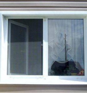 Окно пвх, с одной створкой, поворотнооткидной