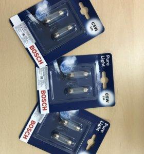 Лампа c5w festoon 35mm. Bosch pure light