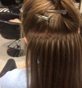 Волосы для наращивания на капсулах