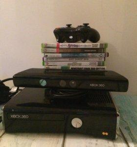 Xbox 360 +Kinect 360 +джойстик. Срочно