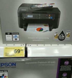 МФУ НОВЫЙ!!!(принтер, сканер, копир) Epson WF2750D