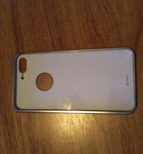 Металл бампер с зеркалом для iPhone 7+