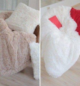 Пледы плюшевые,подушки,с длинным ворсом