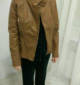 Bershka куртка кожаная