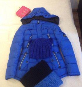 Куртка, шарф, шапка, комплект!!!