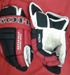 """Хоккейные перчатки """" КОНО """" SR/15-38 cm"""